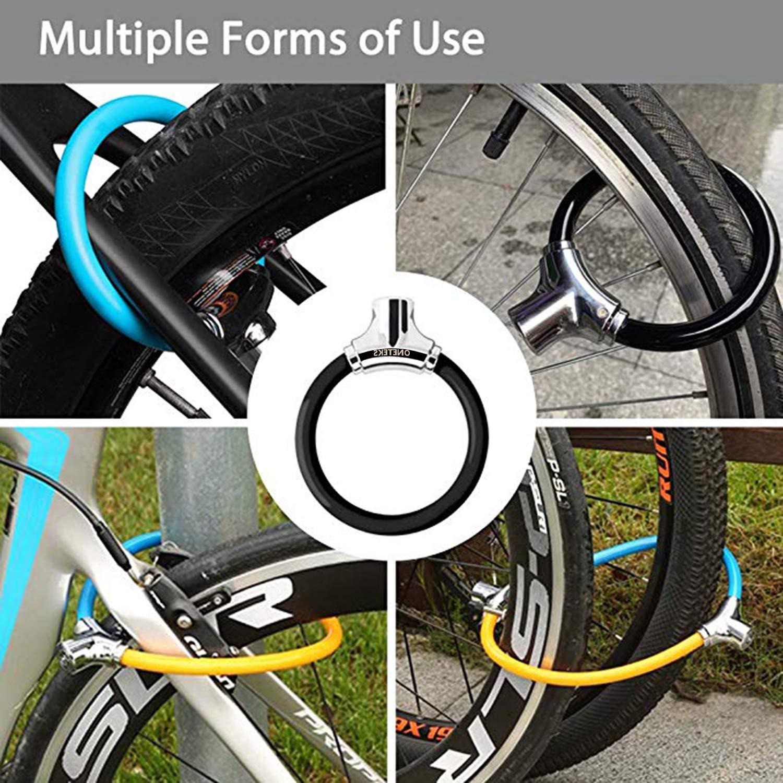 Kids Bike Cycling Locks Anti-Theft High Security for Mountain Bike Road Bike Commute Bike ONETEKS Bike Lock,12mm Heavy Duty Portable Bicycle Disc Lock