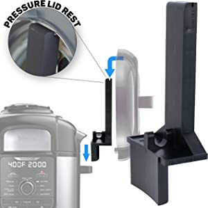 The Steam Boss - Lid and Spoon Rest | Accessories Compatible with Ninja Foodi Pressure Cooker Air Fryer | New Size Fits Deluxe Stainless Steel and Original Ninja Foodi Handle