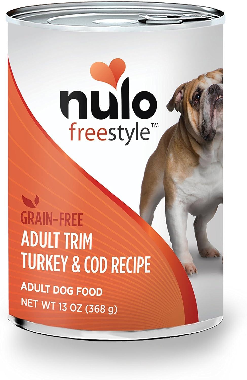 Nulo Adult Trim Grain Free Canned Wet Dog Food (Turkey & Cod Recipe, 13 oz, Case of 12)