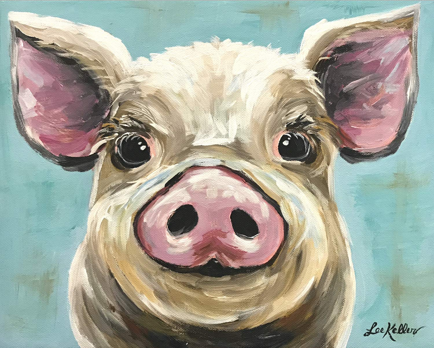 Pig art Print, Rosey', Pig Lover Gift, Rosey the Pig
