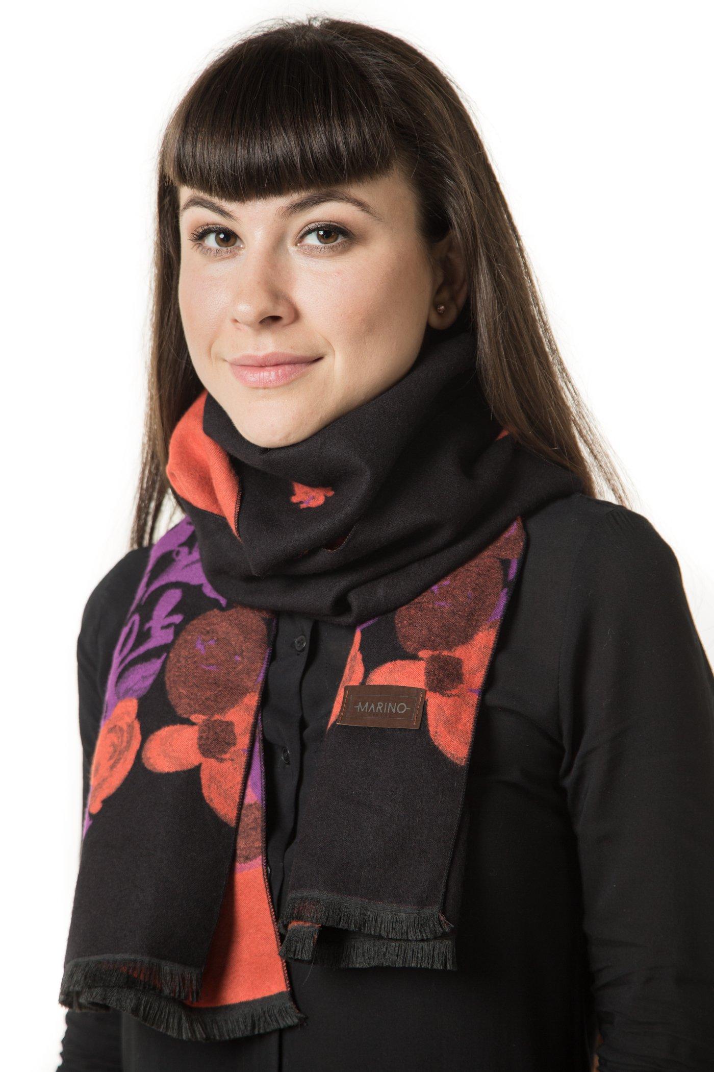 Mio Marino Winter Cashmere Feel Women Scarf, 100% Cotton Fashion Scarves, In Elegant Gift Box