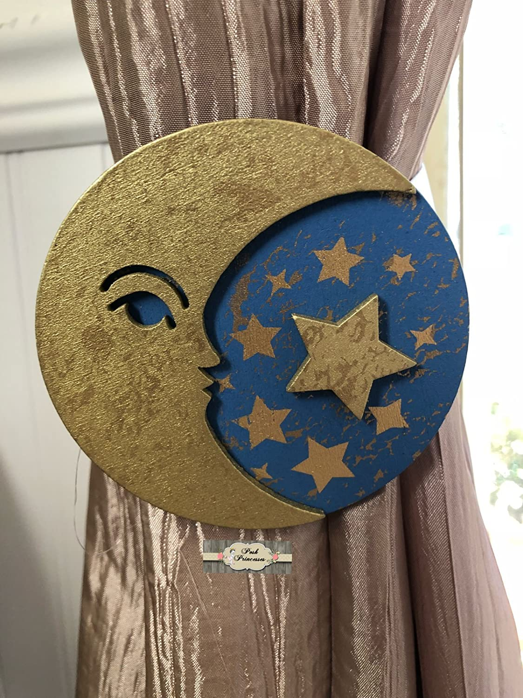 Curtain Tie Backs Moon and Stars Nursery