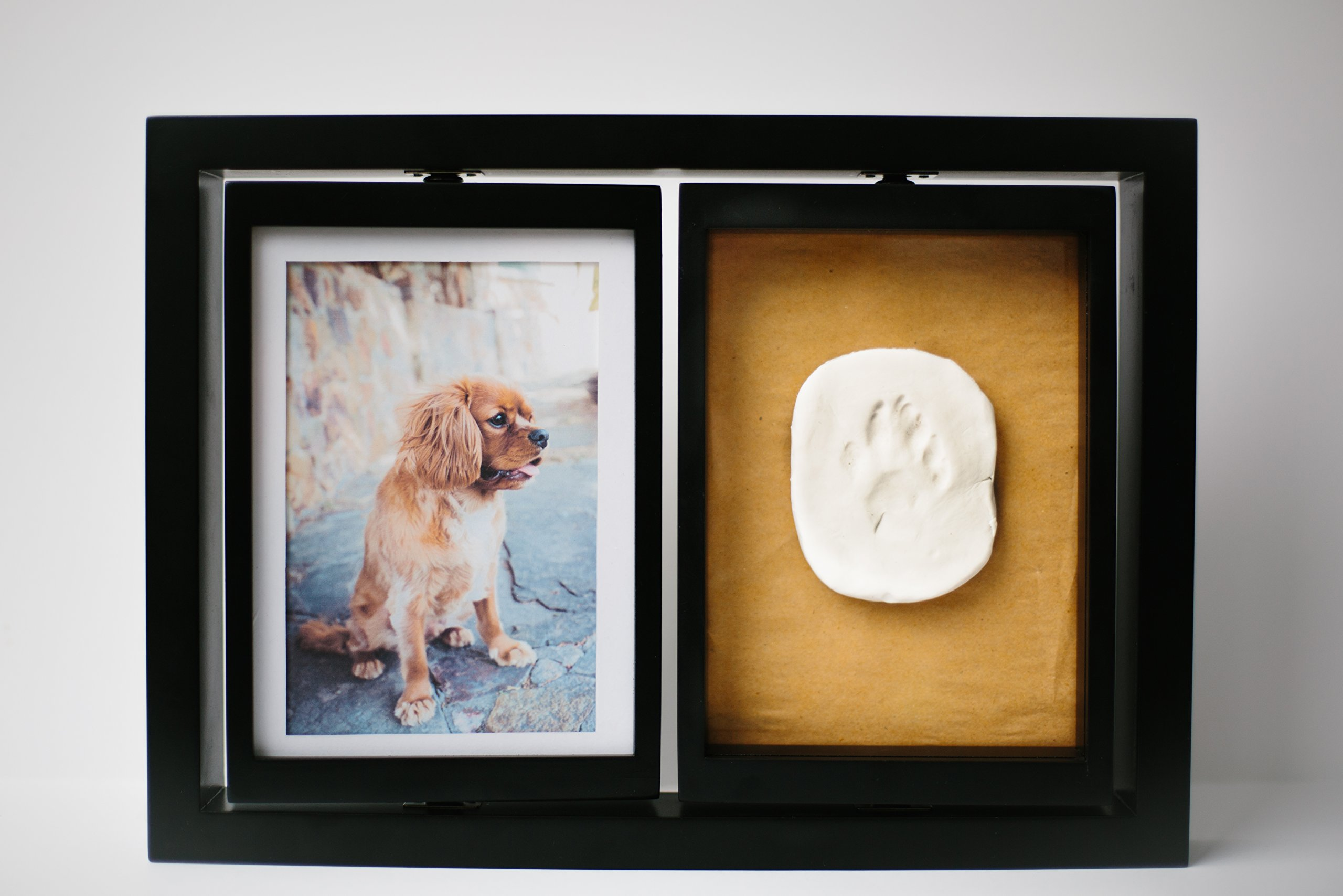 Makin's Clay Memory Frame Child Double Turning Face Baby Handprint and Footprint Clay Imprint Impression Kit