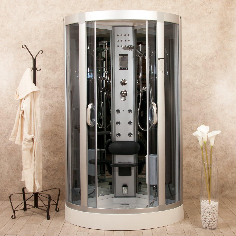 Eden 95 x 95 Box ducha hidromasaje con sauna, baño turco y ozonoterapia: Amazon.es: Bricolaje y herramientas
