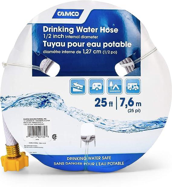 Drinking Water Hose Camco Premium RV Camper Anti Kink Design Tube 5//8 25 Feet