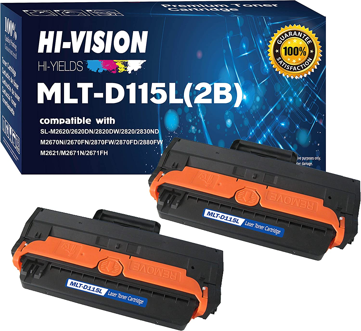 GREENCYCLE 3000 Pages per High Yield Toner Cartridge Replacement Compatible for Samsung MLT-D115L MLTD115L Used in Xpress SL-M2880FW M2870 M2870FW M2830DW M2820DW Black, 10-Pack
