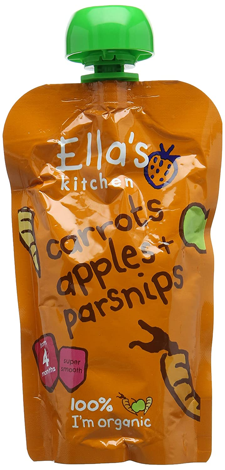 Ella's Kitchen Stage 1 From 4 Months Organic Carrot, Apple and Parsnip 120 g (Pack of 7) Ella's Kitchen
