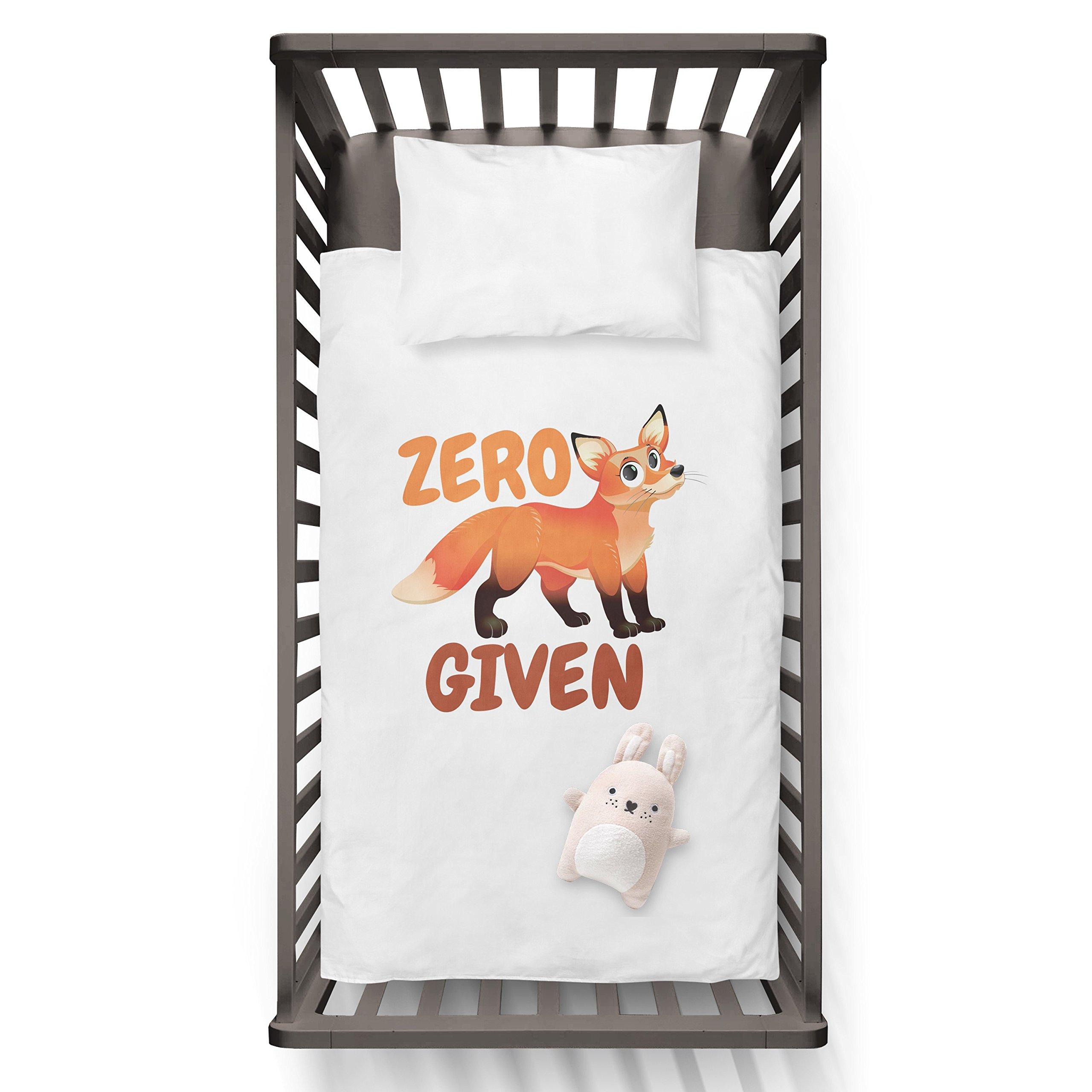 Zero Fox Given Funny Humor Hip Baby Duvet /Pillow set,Toddler Duvet,Oeko-Tex,Personalized duvet and pillow,Oraganic,gift