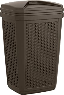 product image for Suncast 30 Gallon Resin Outdoor Hideaway Patio Trash Can, Java