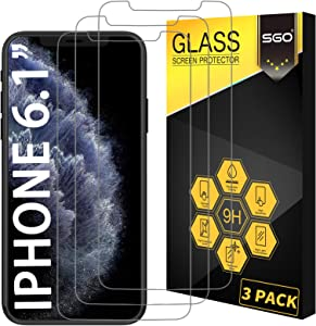 Glass Screen Protector for iPhone 11/iPhone XR 6.1 Inch 3 Pack Tempered Glass Screen Protector for Apple iPhone 11/iPhone XR 6.1 Inch Display Anti Scratch Advanced HD Clarity Work Most Case