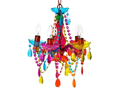 Silly lamp 5 arms chandelier gypsy small multi colour amazon silly lamp 5 arms chandelier gypsy small multi colour aloadofball Image collections