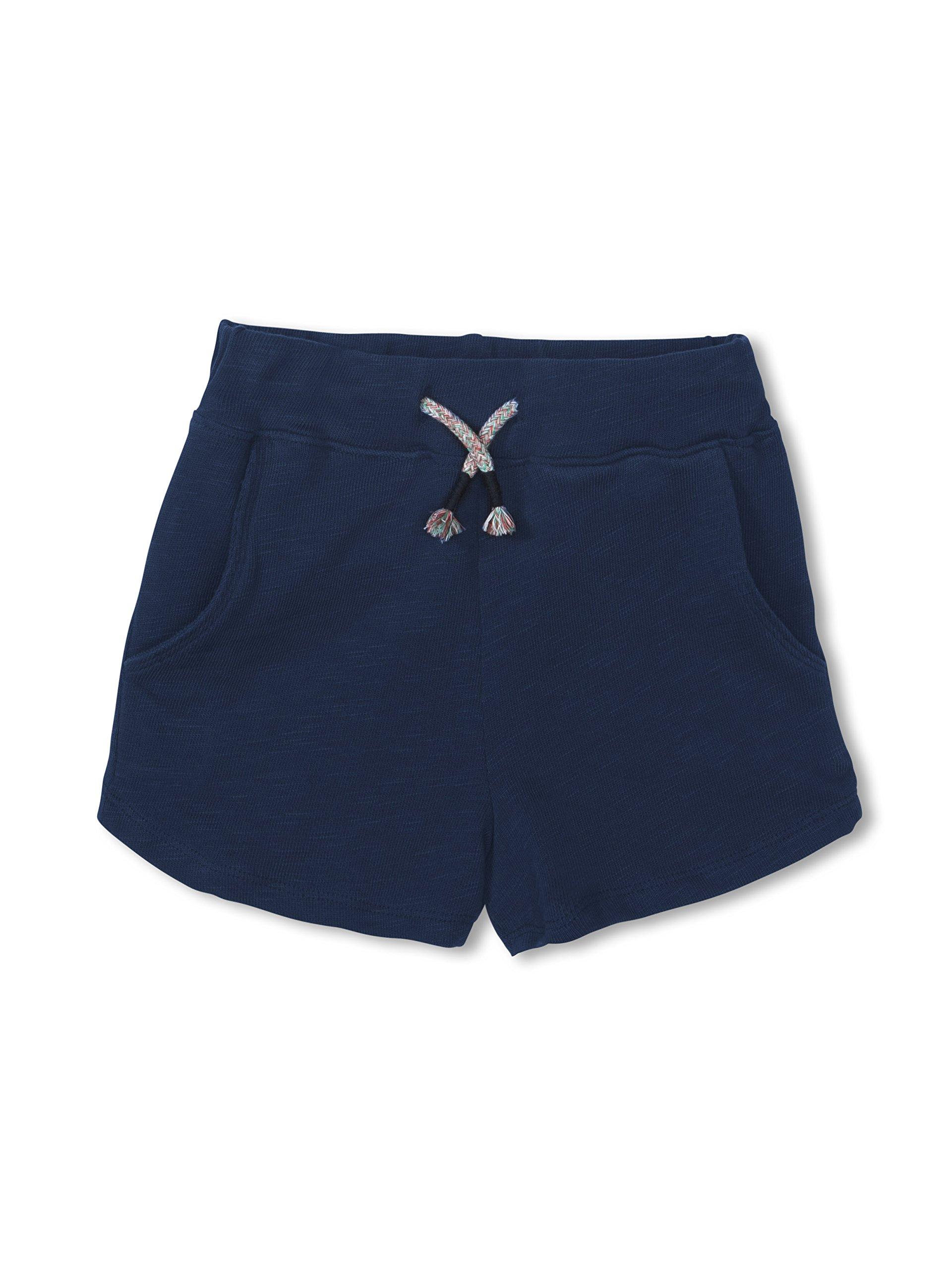 Colored Organics Girls Organic Nika Sport Shorts, Nautical Navy, 6