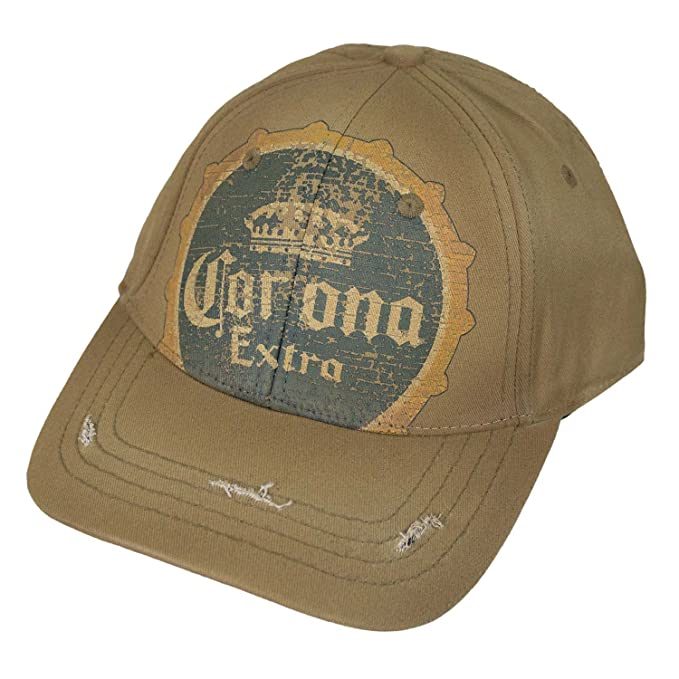 c008d26819e Image Unavailable. Image not available for. Color  Corona Extra Vintage  Bottle Cap Logo Tan Hat