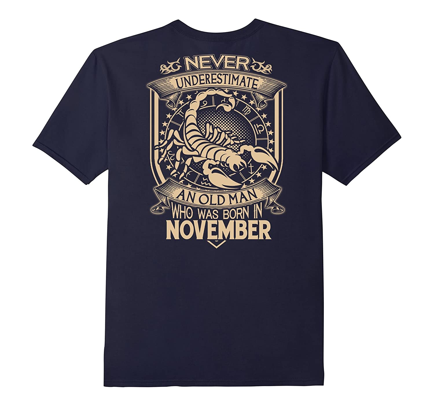 An Old Man Who Was Born In November T-Shirt-BN