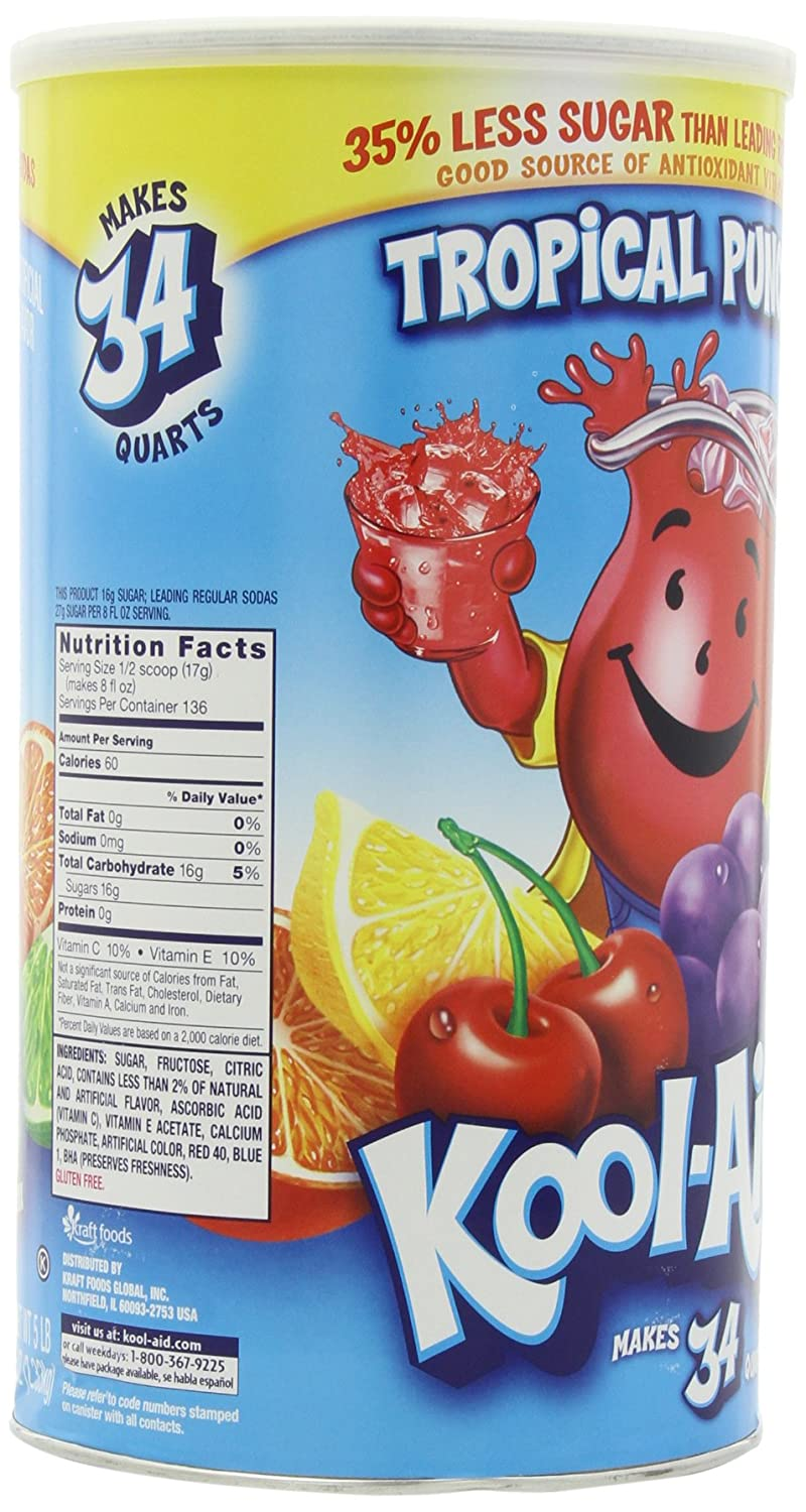 Amazon kool aid tropical punch soft drink mix 825 ounce amazon kool aid tropical punch soft drink mix 825 ounce canisters pack of 2 powdered soft drink mixes grocery gourmet food nvjuhfo Gallery
