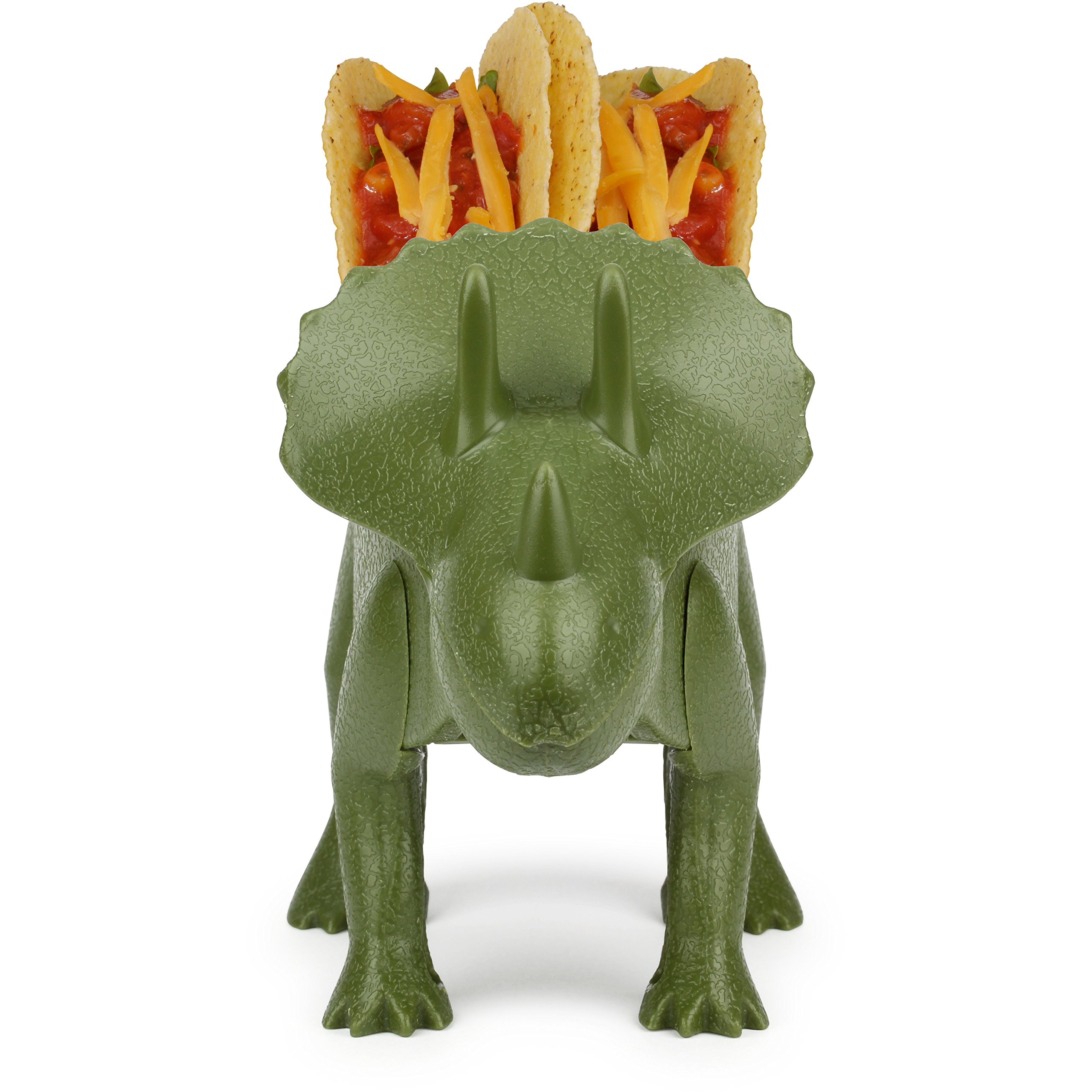 KidsFunwares TriceraTACO Taco Holder - The Ultimate Prehistoric Taco Stand for Jurassic Taco Tuesdays and Dinosaur Parties - Holds 2 Tacos - The Perfect Gift for Kids and Kidults that Love Dinosaurs by KidsFunwares (Image #3)
