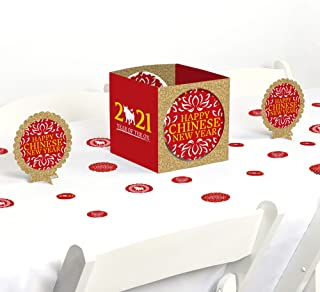product image for Big Dot of Happiness Chinese New Year - 2021 Year of the Ox Party Centerpiece and Table Decoration Kit