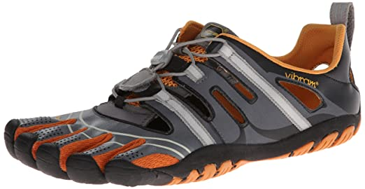official photos 0073b e8455 Vibram Fivefingers TREKSPORT SANDAL (GREY   ORANGE), GREY   ORANGE, 40   Amazon.co.uk  Sports   Outdoors