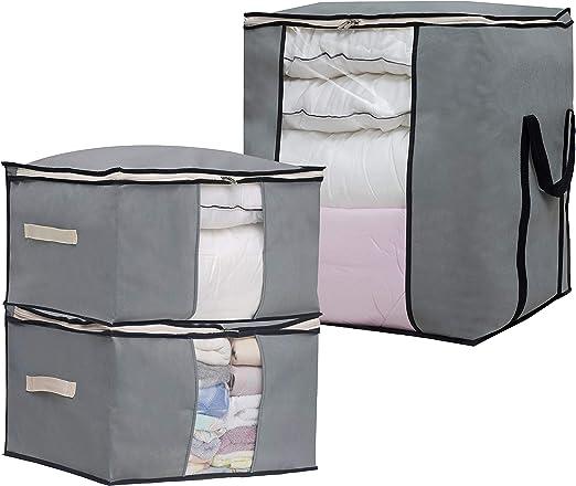 Box Pillow Bedding Quilt Blanket Closet Organizer Storage Bag Case Container