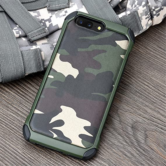 reputable site 832e7 cd6ca Amazon.com: For OnePlus 5,DAYJOY Camouflage style Hybrid TPU+ PC ...