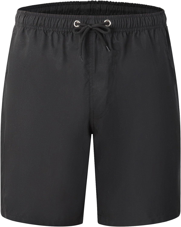 Vska Mens Beachwear Summer Workout Flower Printed Capri Pants Short