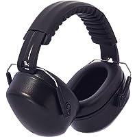 AmazonBasics – almohadillas para orejas de seguridad para reducción de ruido, Negro