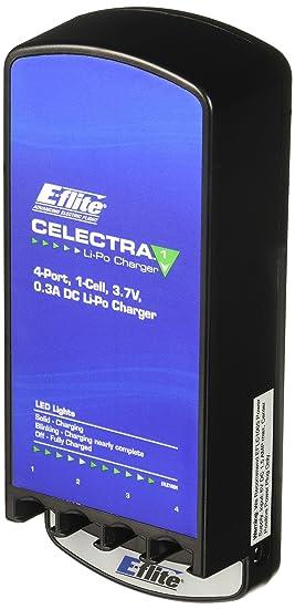 E-flite Celectra - Cargador (3,7 A, Negro, D, Polímero de ...