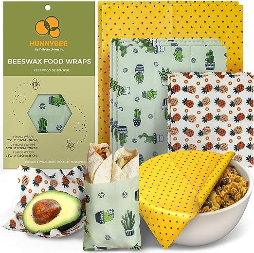 Bees wax wrap medium nine inch reusable food wrap chickens