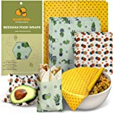 HUNNYBEE Reusable Beeswax Food Wrap (7 Packs), Zero Waste, Beeswax Wrap, Eco Friendly, Organic, Bees Wax Food Storage…