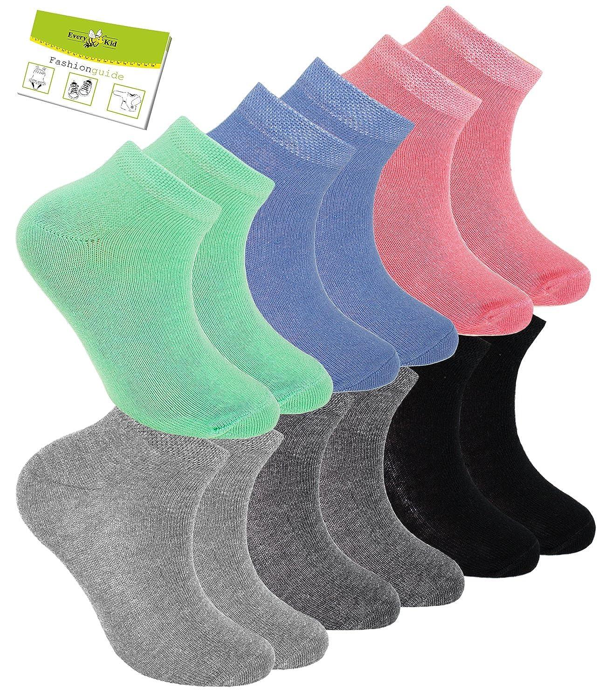 EW-201003-S17-JU1 EveryKid-Fashionguide Ewers 3 Envase Zapatilla De Deporte Ni/ño Paquete Ahorro Medias Cortas Calcet/ín Calcetines Un Color Para Ni/ños incl