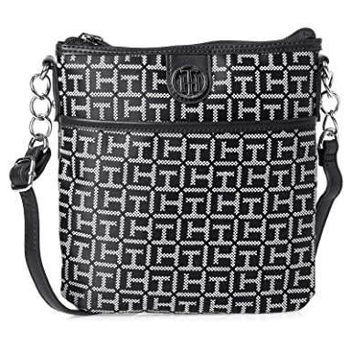 e6beccfda0f Tommy Hilfiger Crossbody Bag for Women - Black: Amazon.ae ...