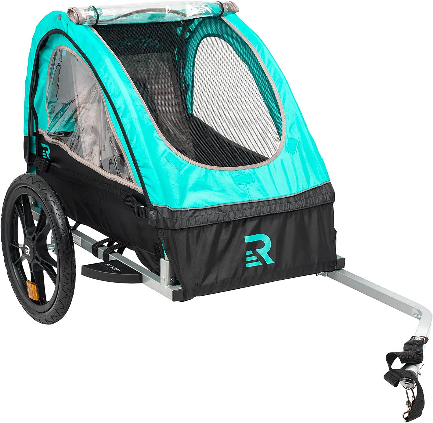 CPSC Approved Safety reflectors Retrospec Rover Kids Bicycle Trailer Single and Double Passenger Children/'s Foldable Tow Behind Bike Trailer with 16 Wheels and Rear Storage Compartment