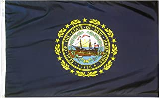 product image for Annin Flagmakers Model 143480 New Hampshire Flag Nylon SolarGuard NYL-Glo, 5x8 ft, 100% Made in USA to Official State Design Specifications
