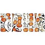 RoomMates RMK2464SCS Halloween Pumpkins Peel and Stick Wall Decals, 1-Pack