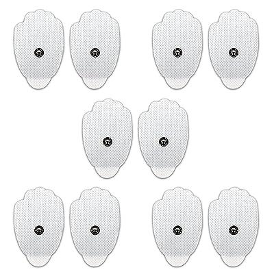Électrodes Pads Électrodes Autocollantes, Remplacement de la Machine Pads Électrode Snap 3.5mm Connecteur Tens Electrodes Patches pour Dix Masseur Numérique Machine de Massage (10 Pièces)