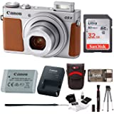 Canon Powershot G9 X Mark II Digital Camera (Silver) with 32GB Card and Bundle