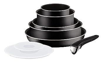 32f5f040d4a81 Tefal L2009902 Set de poêles et casseroles - Ingenio 5 Essential Noir Set 8  Pièces -