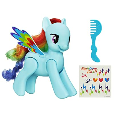 My Little Pony Flip and Whirl Rainbow Dash Pony Fashion Doll Pet: Toys & Games