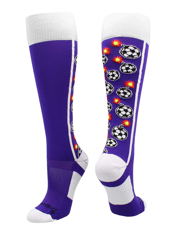 Multiple Colors MadSportsStuff Bomber Soccer Socks Over The Calf Length