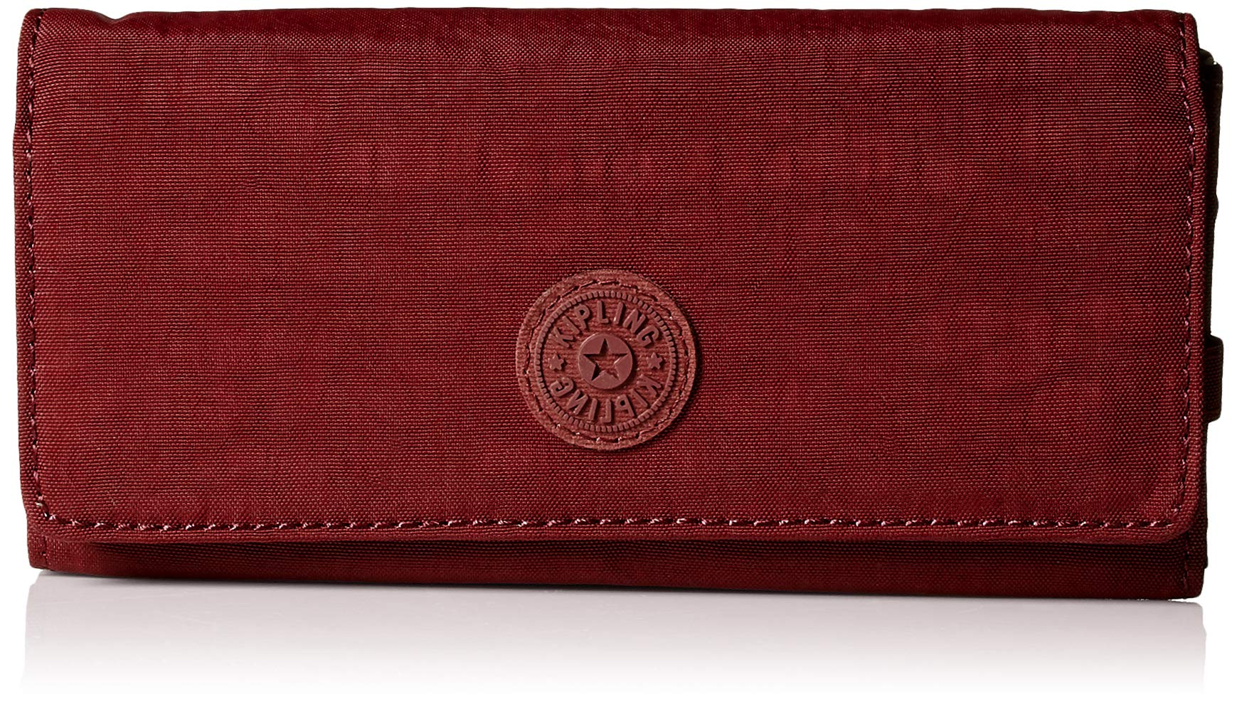Kipling New Teddi Continental Wallet, Snap Closure, Brick Red