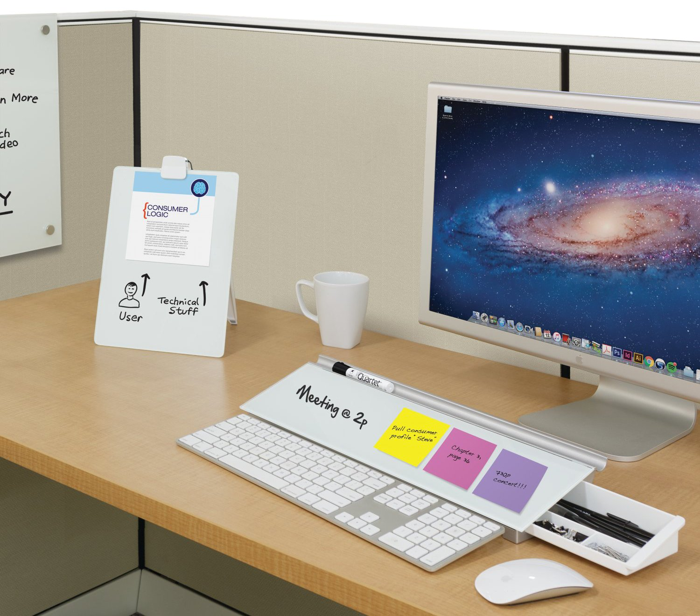 Amazoncom Quartet Glass Dry Erase Board Desktop Easel