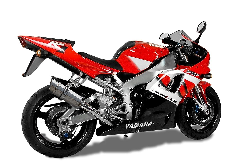 Yamaha YZF-R1 Mini 8 Stainless Steel Round Muffler Exhaust Slip On 98 99 00 01