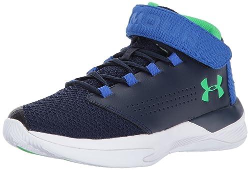 Under Armour Boys Grade School Get BZ Basketball Shoe, Midnight Navy (410)/Ultra Blue, 6.5