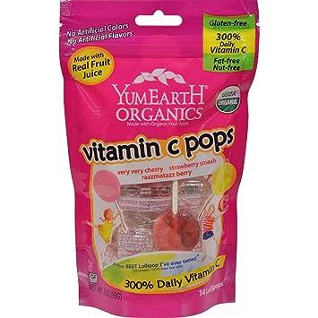 yummyearth Lollipops orgánicos vitamina C cítricos: Amazon.es: Salud y cuidado personal