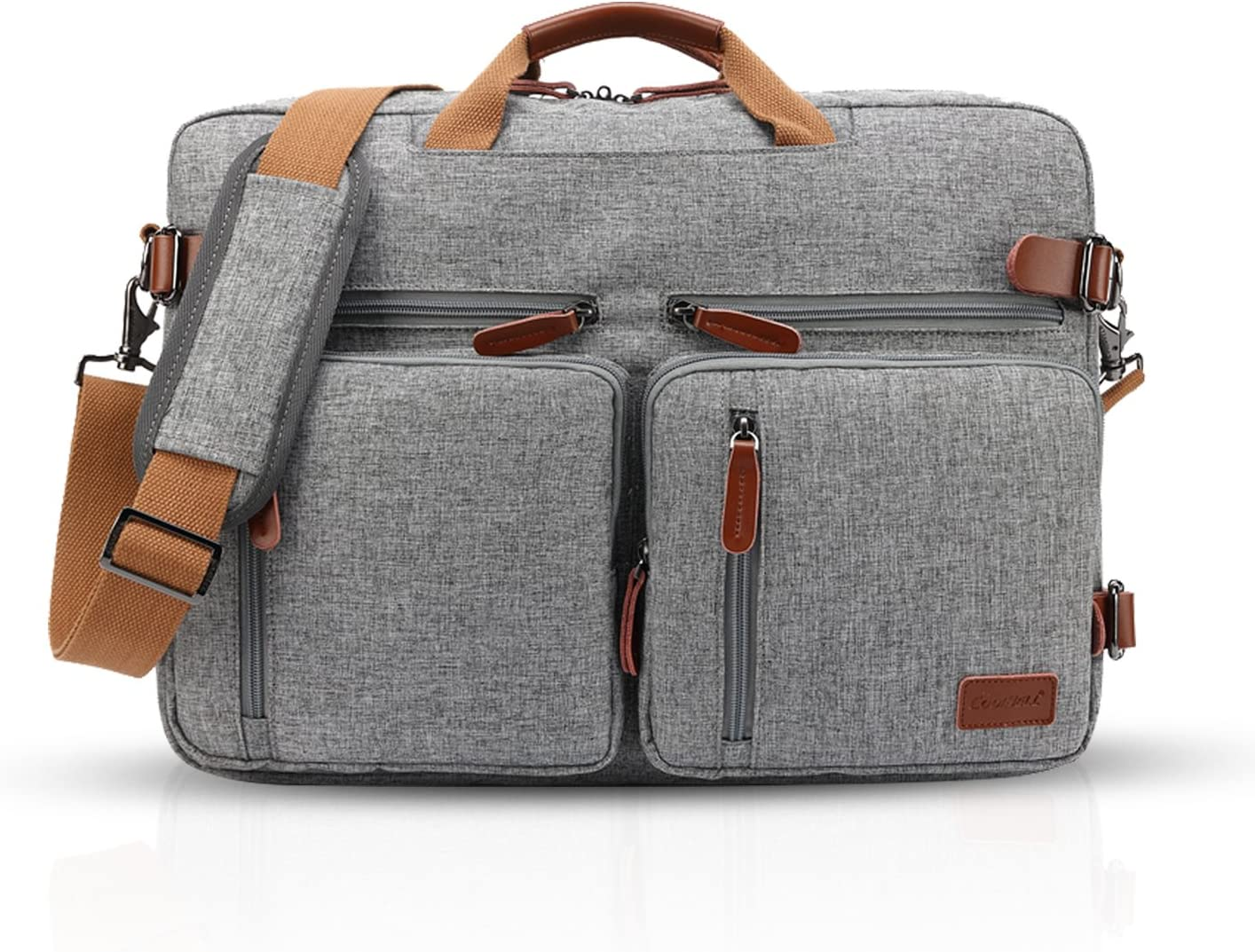 FANDARE Vintage Messenger Bag Sac Bandouli/ère Ordinateur Portable 14.6 Pouces Laptop Briefcase Sacs Port/és Travail Ecole Cartable Crossbody Bag Toile Gris