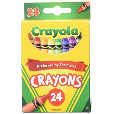 Crayola 24 Count Box of Crayons Non-Toxic Color Coloring School Supplies (2 Packs): Toys & Games