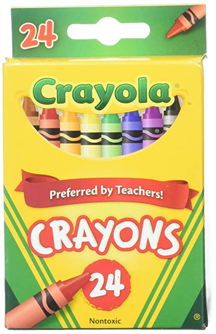 Amazon.com: Crayola 24 Count Box of Crayons Non-Toxic Color Coloring ...
