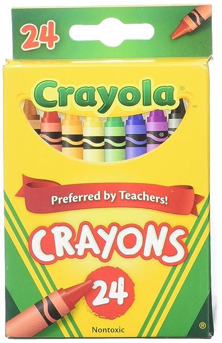 Amazoncom Crayola 24 Count Box of Crayons NonToxic Color Coloring