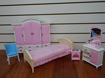 barbie size dollhouse furniture bed room wardrobe set amazoncom barbie size dollhouse