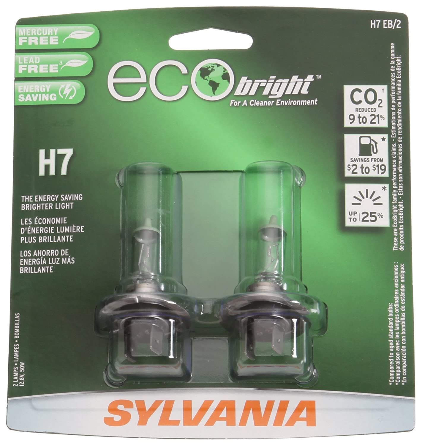 Amazon.com: Sylvania H7 EB EcoBright Replacement Bulb, (Pack of 2): Automotive